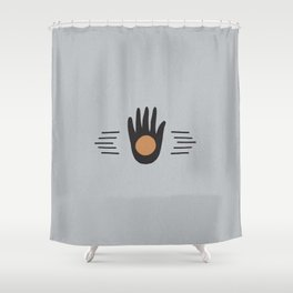Hand High Five Sun Shower Curtain