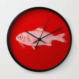 red fish poisson Wall Clock
