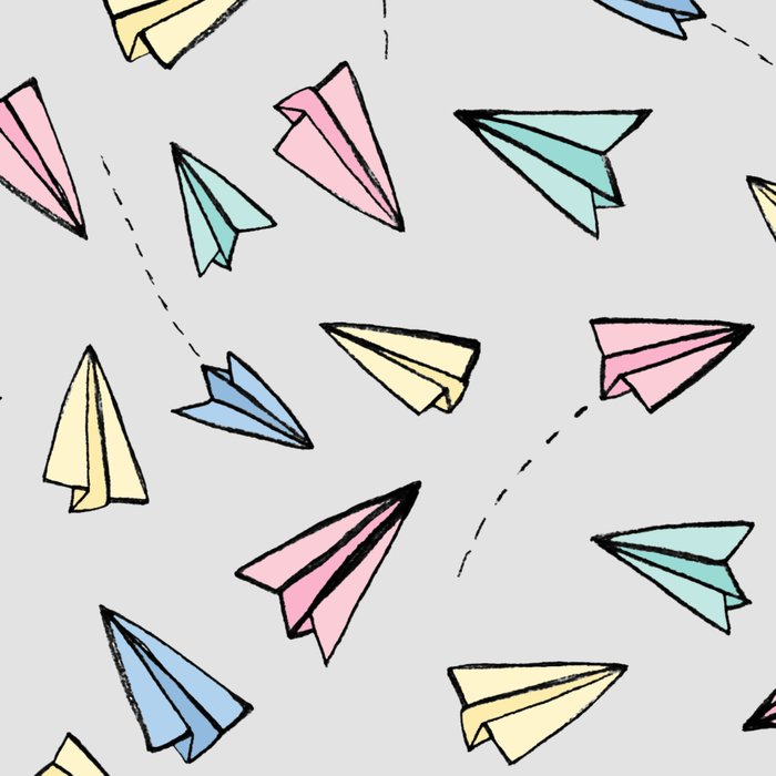 Paper Planes in Pastel Leggings
