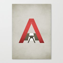 The Scarlet Letter - NO TEXT Canvas Print