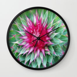 Prickly Thistle Wall Clock