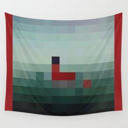 Lil Pixel Boat Wall Tapestry