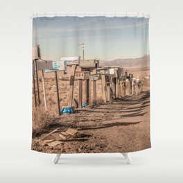 Letter boxes Shower Curtain