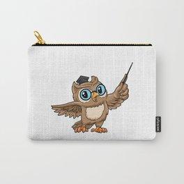 Funny owl as a ( English ) teacher Carry-All Pouch