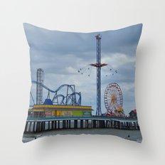 Pleasure Pier - Galveston Texas Throw Pillow