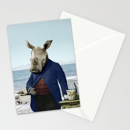 Mr. Rhino's Day at the Beach Stationery Cards