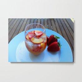 sangria series (#2 - strawberry peach chardonnay) Metal Print