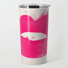Watercolor lips Travel Mug