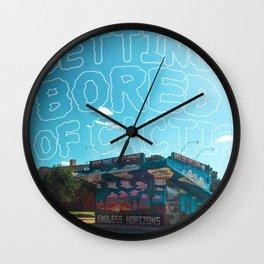 Odesert II (w/ text) Wall Clock