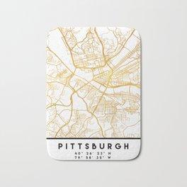 PITTSBURGH PENNSYLVANIA CITY STREET MAP ART Bath Mat