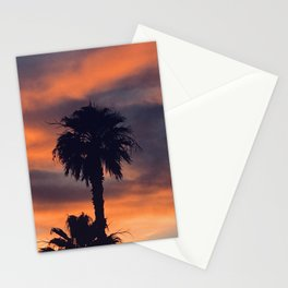 Palm Trees in Sunset on the Planet Jupiter Stationery Cards