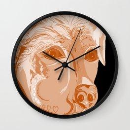 Rottweiler Sepia Tones Wall Clock