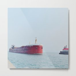 Tanker Ship Metal Print