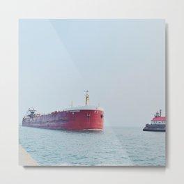 Tanker Ship Metal Print