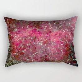 Pink Galaxy Low Poly 31 Rectangular Pillow