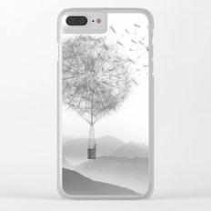 Dandelion Sketch Clear iPhone Case