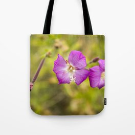 Pink on green #5 Tote Bag