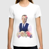 tom hiddleston T-shirts featuring Tom Hiddleston FlowerCrown by Shelby Breese