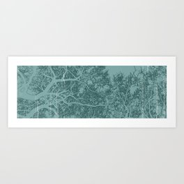 Branches one Yoga mat Art Print