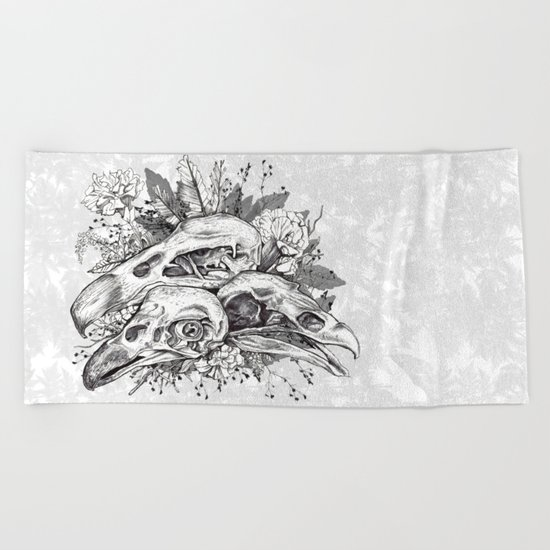 Skull Pile Beach Towel
