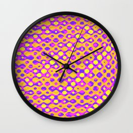 Brain Coral Pink Banded Cross Small Polyps - Coral Reef Series 029 Wall Clock