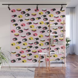 Cute licorice candy Wall Mural