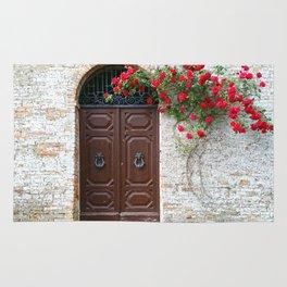 Italian Red Roses Rug