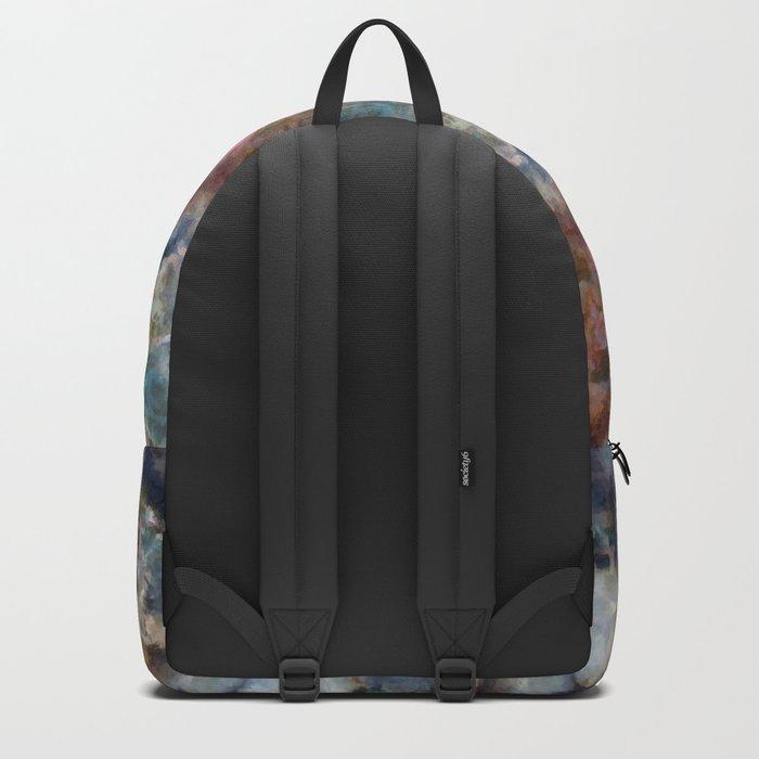 Colorful watercolor nebula onyx Backpack