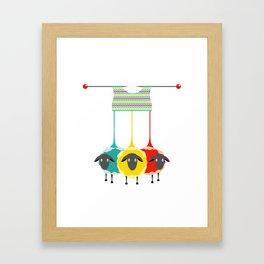 Knitting sheep Framed Art Print