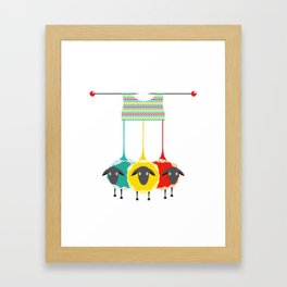 Knitting sheep Framed Art Print