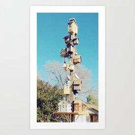 Bird House High Rise Art Print