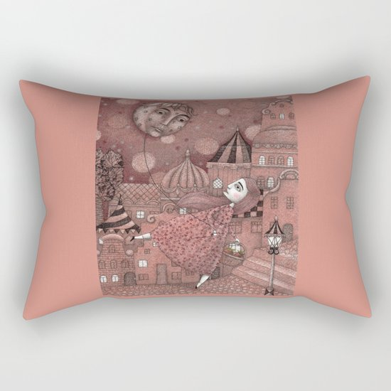 Strawberry Moon in June Rectangular Pillow