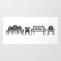 Tonet chairs Art Print
