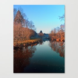 Winter mood on the river | waterscape photography Canvas Print