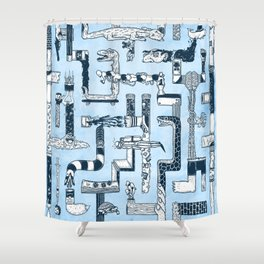 Which Way To The Bathroom? Shower Curtain