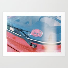 Red Car Art Print
