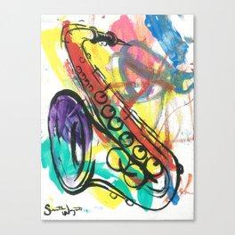 Saxaphone Canvas Print
