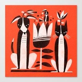 TUXEDO FRIENDS Canvas Print