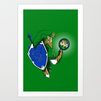 Link Too The Past Art Print