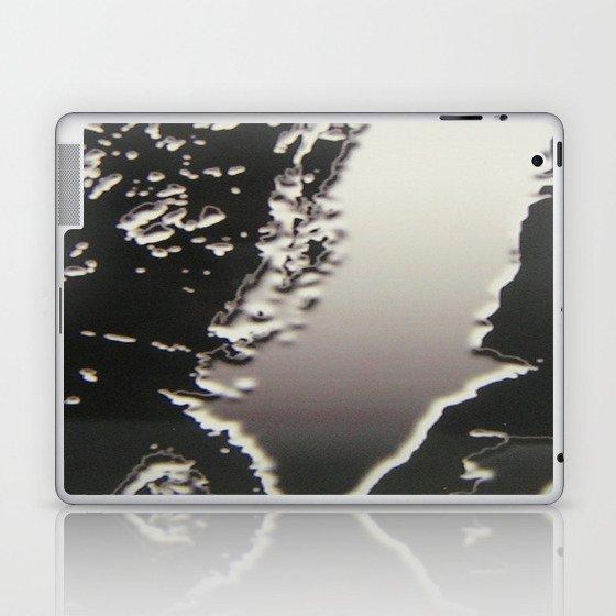 Black & Silver Grey Photograph Liquid Metal #2 Laptop & iPad Skin