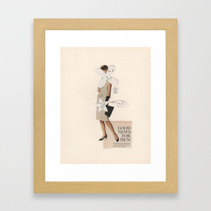 Good News For Men! Framed Art Print