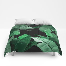 Tropical Palm Print #3 Comforters