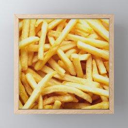 French fries pattern  Framed Mini Art Print