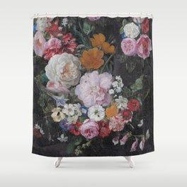 Vintage Bohemian Flower collage Shower Curtain