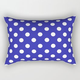 Polka Dots (White & Navy Pattern) Rectangular Pillow