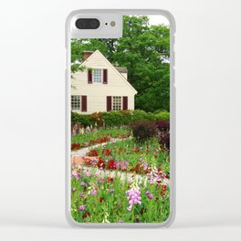 Cottage Garden - Colonial Williamsburg Clear iPhone Case