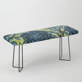 Black and Blue Bench