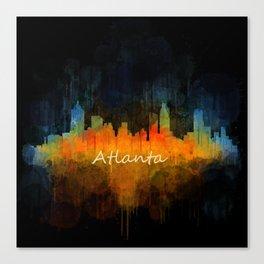 Atlanta City Skyline UHq v4 Canvas Print