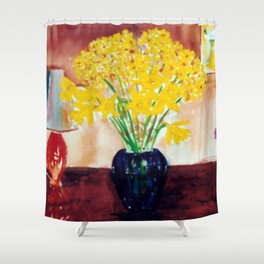 Daffodils  and Jonquils             by      Kay Lipton Shower Curtain