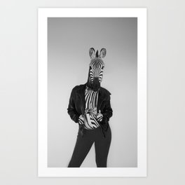 Zebra Madness Art Print